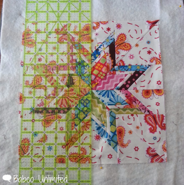 BabcoUnlimited.blogspot.com - Modern Lonestar Quilt, Straight Line Quilting