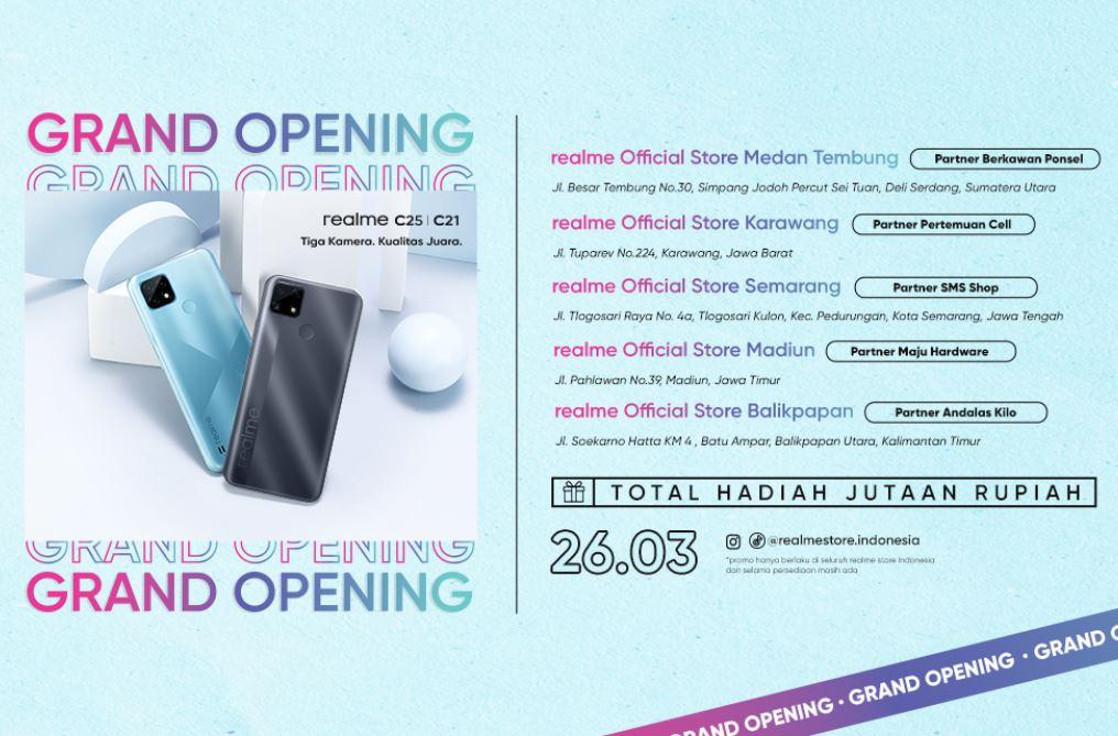 Realme Official Store Diresmikan di Lima Kota di Indonesia, Mana Saja?