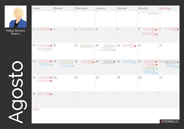 Calendario Excepcionales Agosto 2020