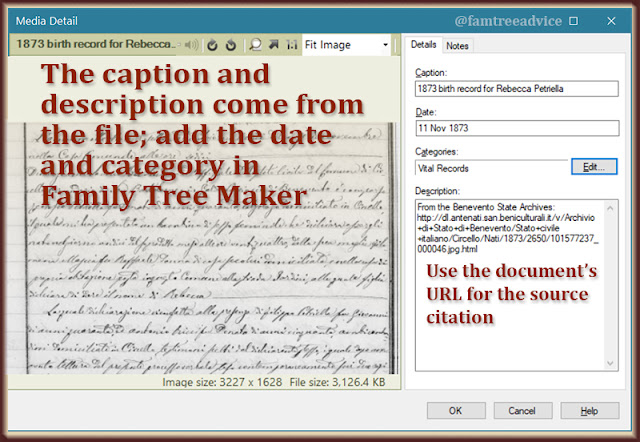 Not only do the image's facts get pulled into your tree, you can use them to create a source citation.