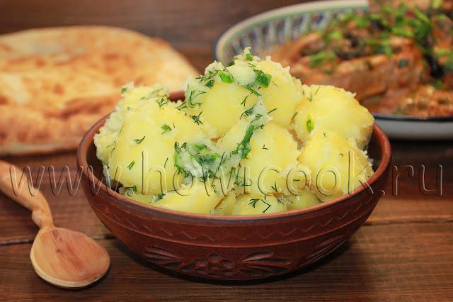 рецепт картофеля с чесноком и зеленью