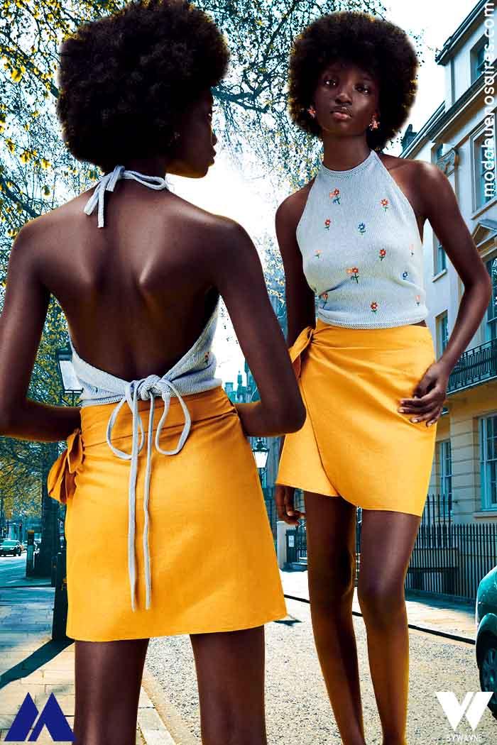 top cuello halter 2022 moda ropa de mujer