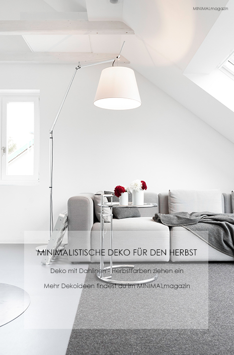 Dekoidee mit Dahlien - Dahlien bringen FArbe in das Wohnzimmer -meine Herbstdekoration!