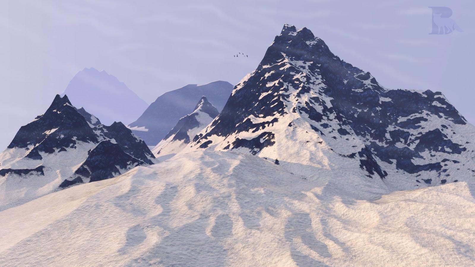 Procedural snowy mountain