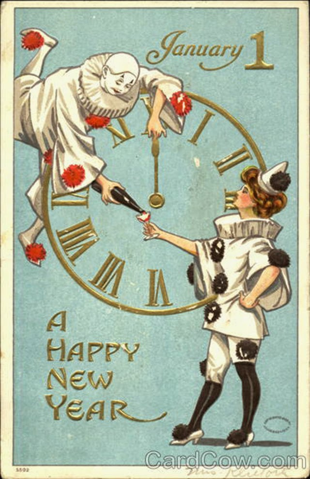vintage new years eve card download