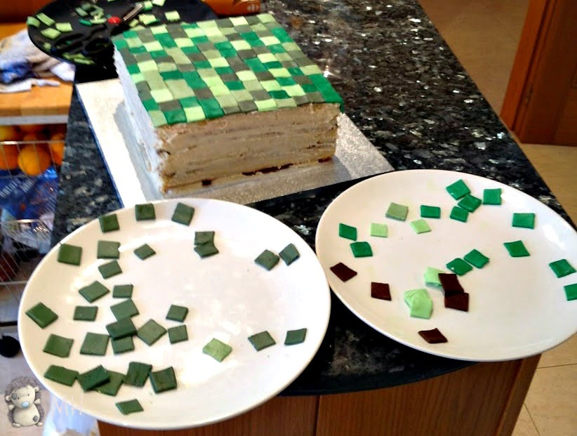 Tarta Minecraft.