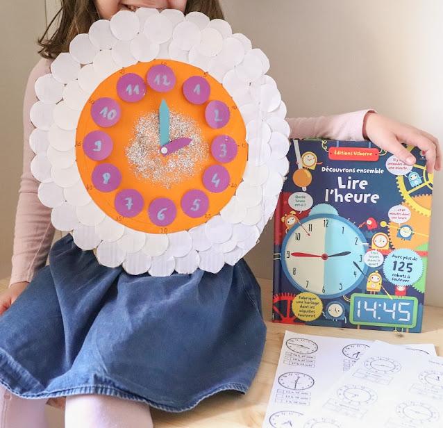 horloge pour apprendre a lire l'heure