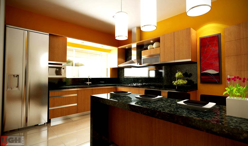 Dise o de interiores dise os para salas y cocinas for Diseno de interiores virtual