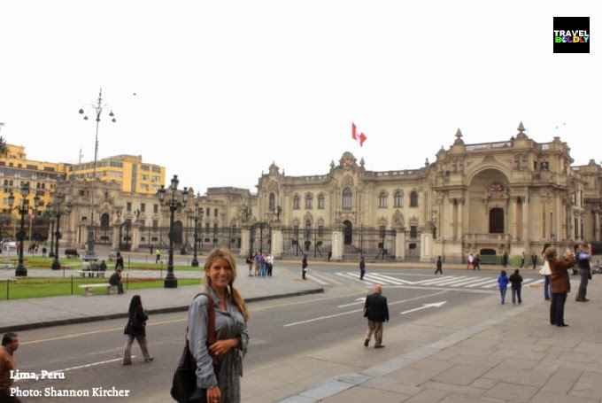 Getting a taste of Lima Peru's European architecture. Photo: Shannon Kircher for TravelBoldly.com