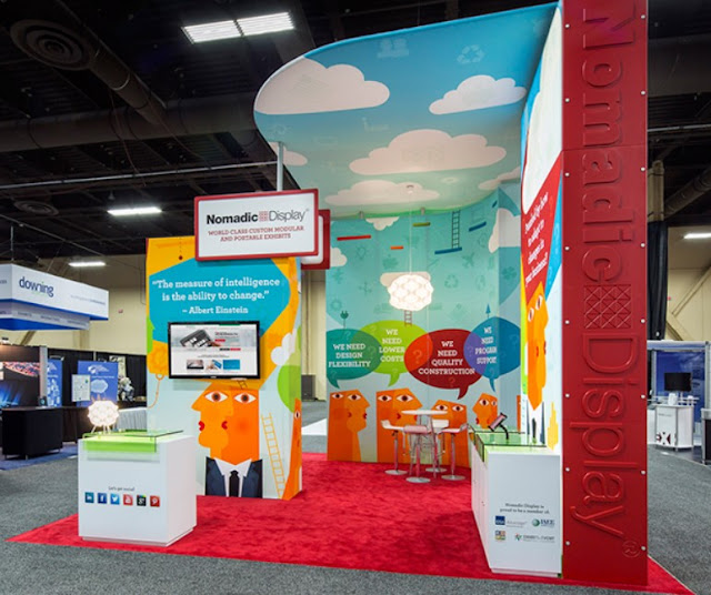 Invest in Backdrops Trade Show Booth Ideas