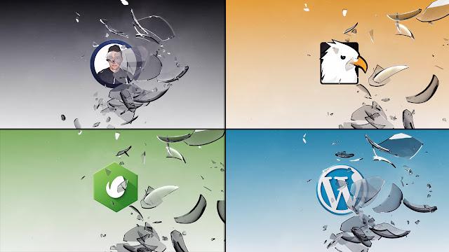 قالب إحترافي شعار تكسير زجاج Broken Logo جاهز للتحميل والتعديل مجانا برنامج | أفتر إفكت