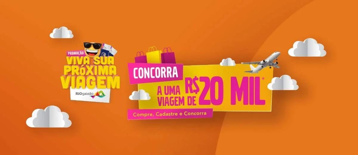 Cadastrar Promoção Riogaleão 2020 Vale Viagem 20 Mil Reais