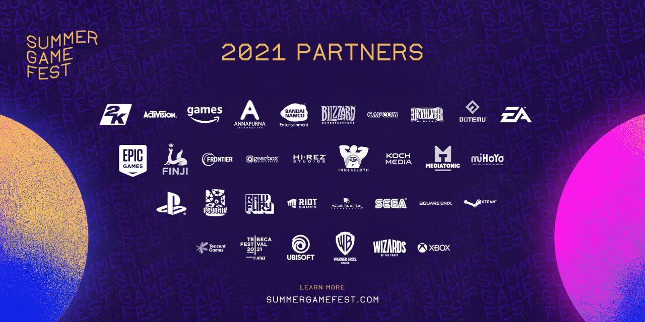 Summer Games Fest 2021 Official List of Partners