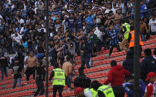 SAN LUNES TANDAS Y FUTBOL ( violencia en Liga MX al igual que en asambleas de Morena )