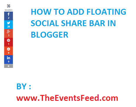 How To Add Floating Social Share Bar in blogger
