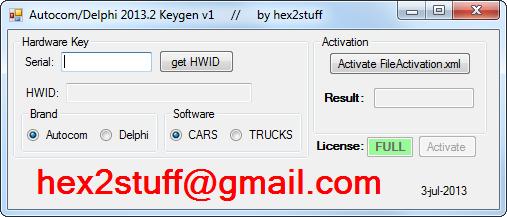 hex2stuff 2013: autocom / delphi 2013 release 2 keygen activator 2013.2 v1 ( 2.13.2 activation