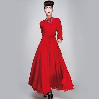 Model Dress Panjang ala Korea