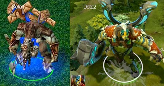 Dota Vs Dota2 - Part 1 - Heroes Look Compared 1