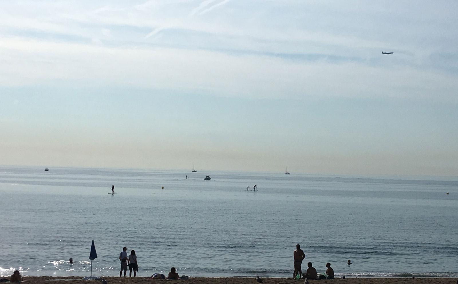 Playa de la Barceloneta. Verano 2018