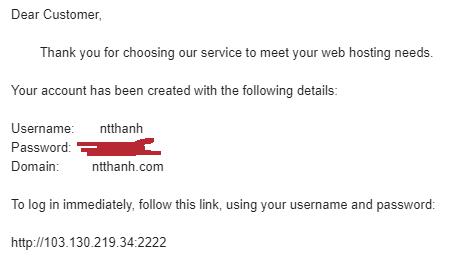 Hosting DirectAdmin vĩnh viễn miễn phí tại ZoneDark.Asia