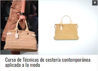 Curso de Técnicas de cestería contemporánea aplicada a la moda