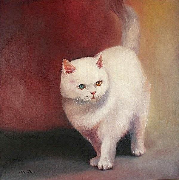Katzenportrait vom Foto Öl Gemälde bestellen