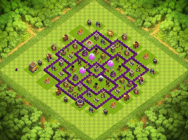 Base Town Hall 8 Clash of Clans Farming