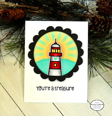 You're a Treasure by Larissa Heskett for Paper Sweeties using Beach Therapy, Ahoy Matey and Circle Scalloped Fr