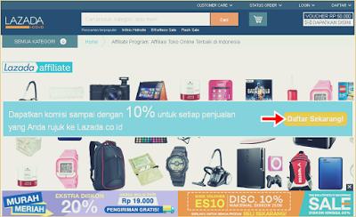 Cara Registrasi Pemasar Online (Affiliasi) Lazada