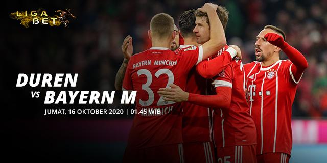 Prediksi Parlay Duren vs Bayern Munich Jumat 16 Oktober 2020