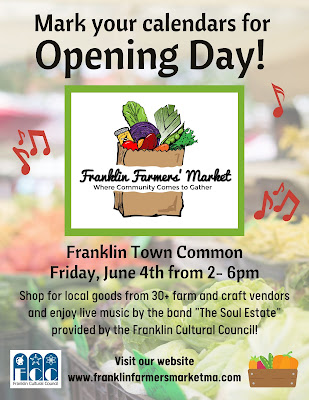 Mark your calendar for Farmers Market opening day = June 4, 2021