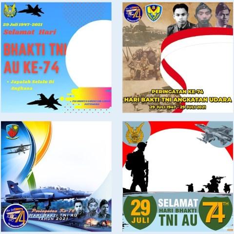 Kumpulan Link Download Bingkai Twibbon Hari Bhakti ke-74 TNI AU 2021
