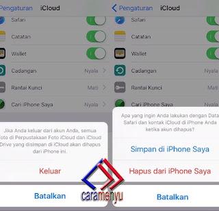 Cara Keluar ICloud iPhone 5 dan iPhone 6 Plus