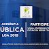 Acontecerá nesta quarta, 25, audiência pública que discutirá a LOA 2019