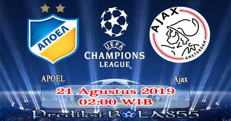 Prediksi Bola855 APOEL vs Ajax 21 Agustus 2019