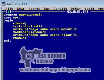 Cara Membuat Text Berwarna di Turbo Pascal