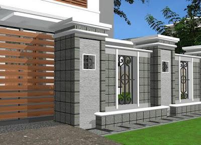 Desain Pagar Rumah Minimalis Modern Terbaru