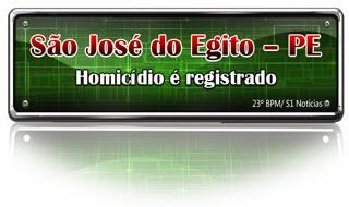 Homicídio é registrado em São José do Egito – PE