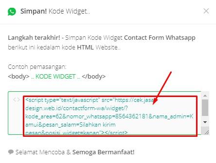 WhatsApp: Membuat Formulir Pesan WA di Blogger & WordPress