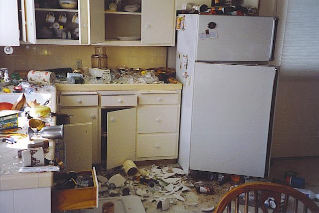Deprem sonrası mutfak