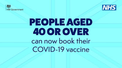 300421 People aged 40 or over can book their COVID jab text only