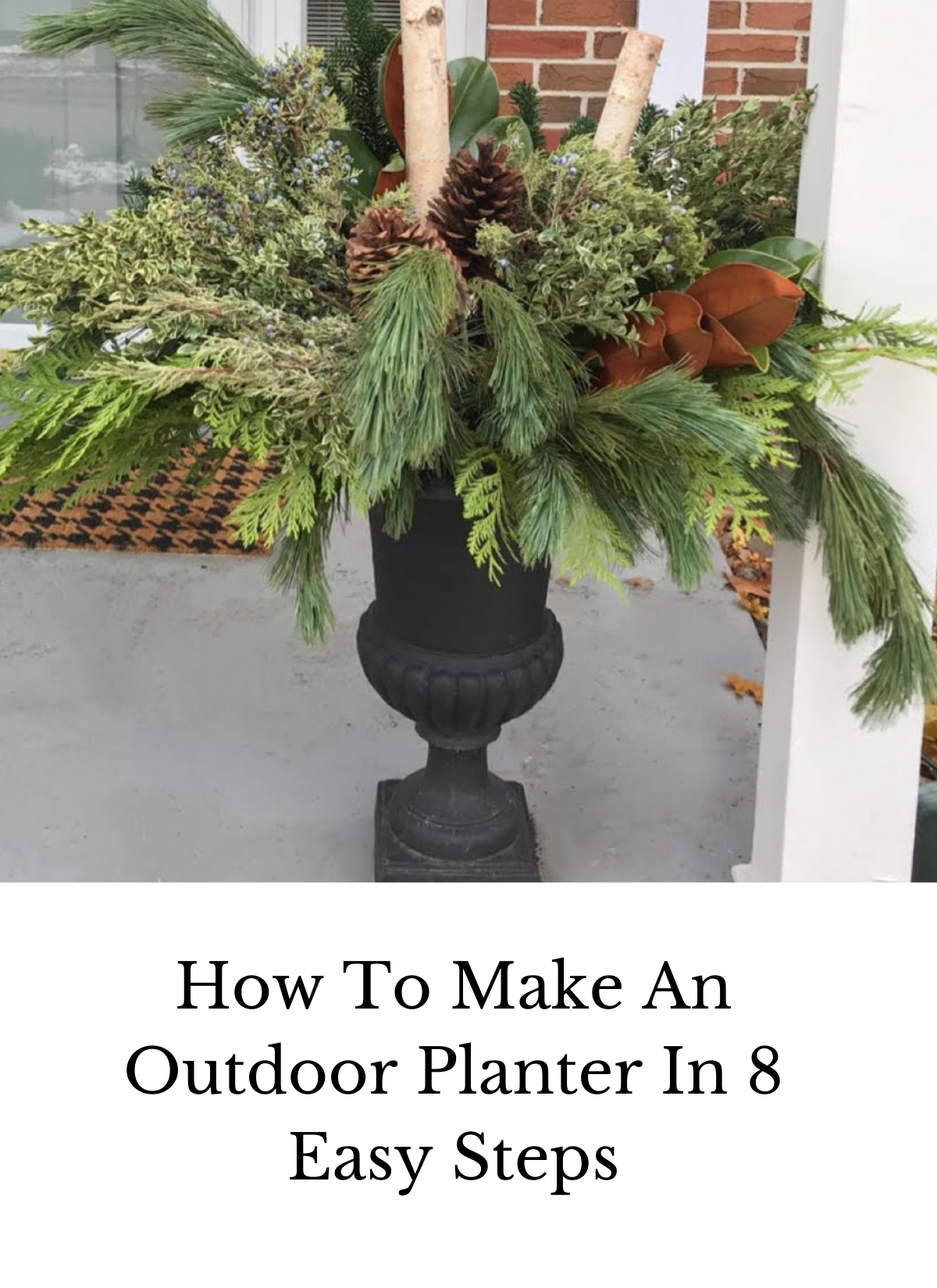 how to make an outdoor planter