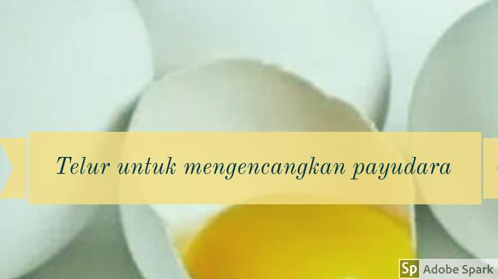 Telur untuk mengencangkan payudara