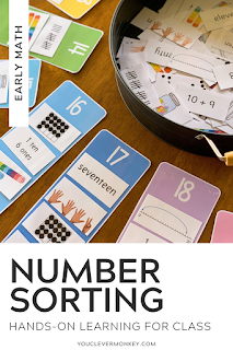 NUMBER SORTING MATS - Perfect for children learning about the different representations of number, this number sorting resource is the perfect addition to your math centers or morning work that can be used over and over and over again to help support your classroom teaching of number and all the different ways numbers can be represented. With multiple representations included for all the numbers from 11-20, pick and choose the cards you want your children to sort