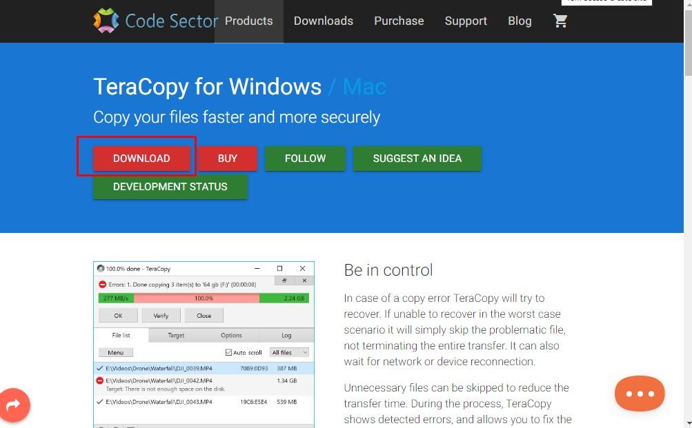 Como copiar arquivos sem erros