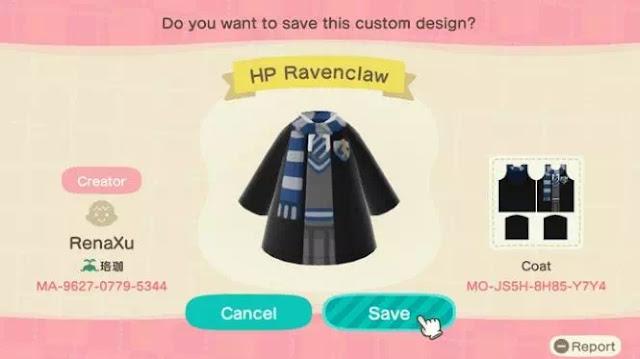 Kode Pakaian Harry Potter Animal Crossing New Horizons-9