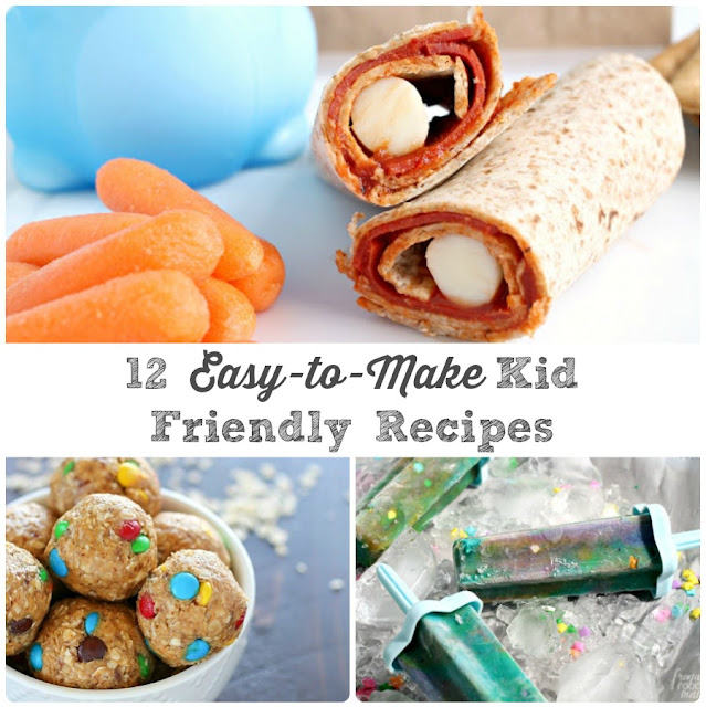 These 12 Easy-to-Make Kid Friendly Recipes are fun for the kids to make and require very little adult supervision... the perfect boredom busters!