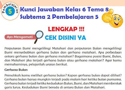 Kunci Jawaban Kelas 6 Tema 8 Subtema 2 Pembelajaran 5 www.simplenews.me