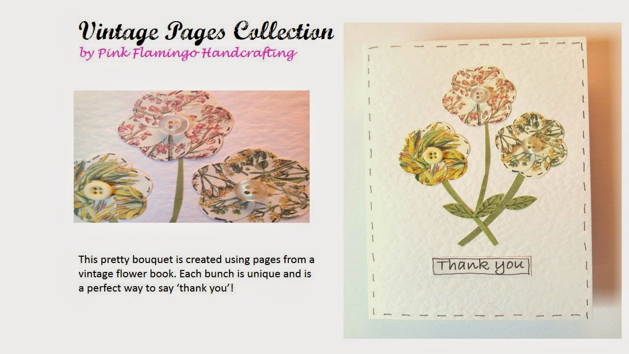 Vintage flowers card by Pink Flamingo Handcrafting