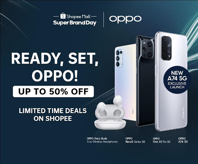 OPPO Launches The A74 5G Smartphone and Enco Buds Shopee